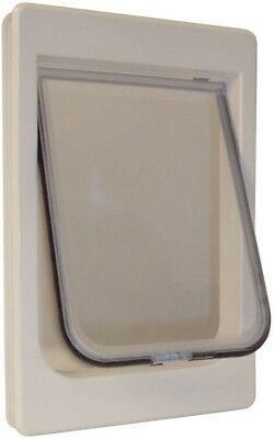 Pet Door Large With Rigid Flap 4 Way Lock For Cat Entry And Exit Door Mount