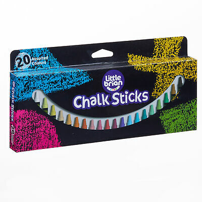 Little Brian Chalk Sticks Assorted Colours 20 pack