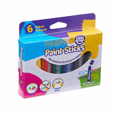 Little Brian Paint Sticks Fabric Assorted Colours 6 Pack