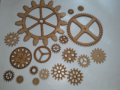 XXL Large 60cm Steampunk gears MDF mixed cogs, gears craft blank, Embellishment