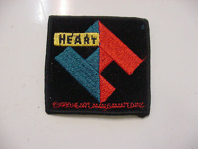 """vintage HEART BAND embroidered IRON PATCH  ROCK 1990'S - 3""""X3"""" LICENSED"""