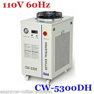 S&A 110V CW-5300DH Industrial Water Chiller for 150W CO2 Laser Tube