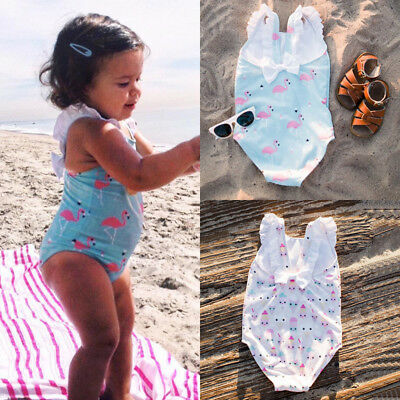 AU Stock Kids Baby Girls Flower Bowknot Bikini Swimwear Swimsuit Bathing Beach