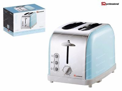 SQ Professional Legacy 900W Toaster with Reheat, Defrost and Cancel - Blue