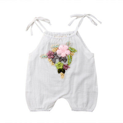 Cotton Newborn Infant Baby Girl Romper Bodysuit Jumpsuit Clothes Outfit Sunsuit