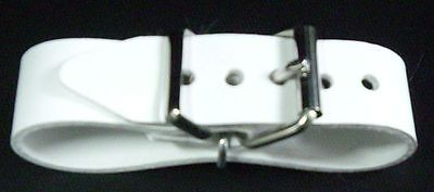 PVC Belt with Double Metal Loop Nostalgia Pram in White and Gray