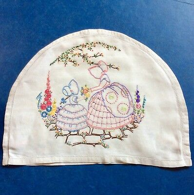 Vintage Embroidered Crinoline Lady Teacosy Cover