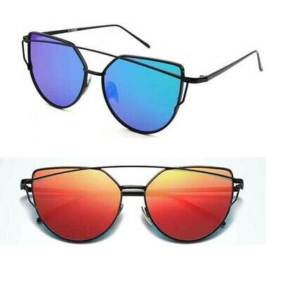 Vintage Women Sunglasses Metal Frame Mirrored Oversized Outdoor Driving Glasses