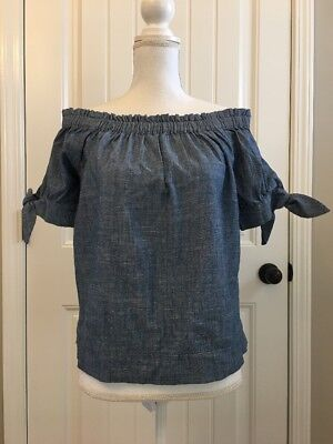 3fafc36d2cc NWT J. CREW COLLECTION Thomas Mason Off the Shoulder Striped Top Sz ...