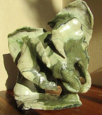 Large African Butter Jade Elephant Shona Sculpture Zimbabwe  - New - 4.1kg - BJ3