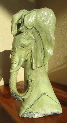 Large African Butter Jade Elephant Shona Sculpture Zimbabwe  - New - 3.4kg - BJ2