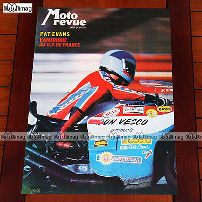 PAT EVANS au GRAND PRIX DE FRANCE 1976 DON VESCO TEAM Poster Pilote MOTO #PM160