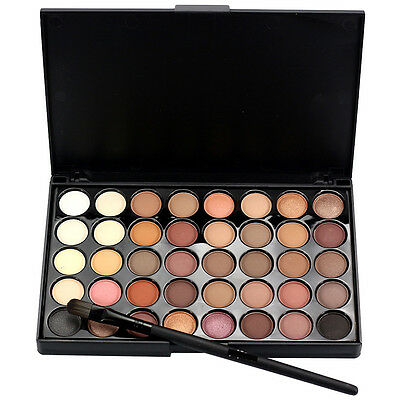 Cosmetic Matte Eyeshadow Cream Eye Shadow Makeup Palette Shimmer + Brush Set