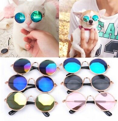 Small Cat Dog Sunglasses Glasses Costume Pet Toy Kitten Outfit Clothes Funny UK