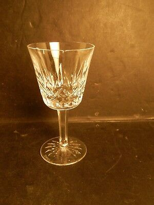 "Vintage Waterford Lismore Claret Wine Stem Crystal Glass 5 7/8"" As Is"