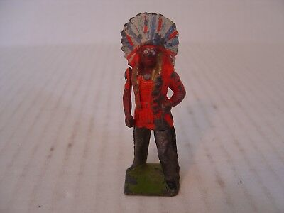 Britains Ltd Indian Chief With Moveable Arm With Knife Made In England