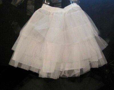 "Crinoline Petticoat  Waist 10"" Stretch To 16"" Velcro/drawstring Closure Nwot"