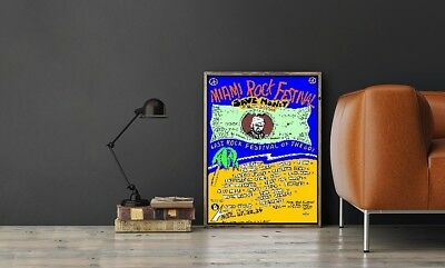 """Large Size 24""""x32"""" Miami Rock Festival 1969 Poster - Last Rock Show of the '60's"""