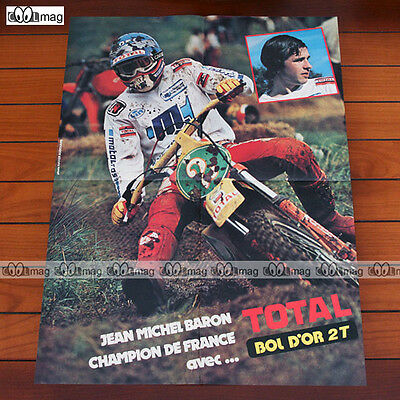 JEAN-MICHEL BARON Champion de France / TOTAL (1981) - Poster Pilote MOTO #PM191