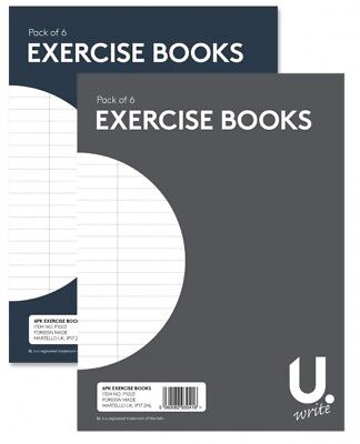 A5 Excercise Books Ruled 192 Pages 6 Pack Kids School Stationery Note Pad Set