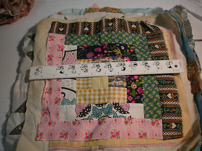 Variety of Patterns Hand Pieced c1930's - 14 Blocks
