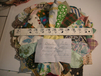 Dresden Plate Hand Pieced c1940's - 10 Blocks