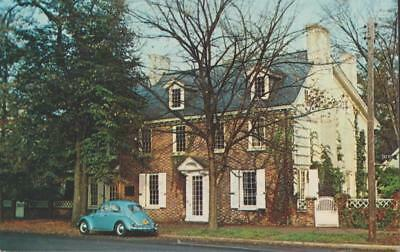 Ridgely House On The Green Dover Delaware Vw Volkswagen Bug Auto Vintage Pc Rare