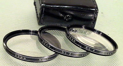 55mm Set of 1, 2, & 4 Close-up Plus Lenses - Get in there really close! NearMint