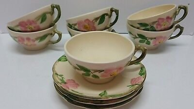 Vintage Franciscan Desert Rose Lot Tea Cups And Saucers Coffee Cups Mugs #Lr