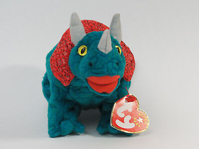 TY BEANIE BABY Hornsly - MWMT (Triceratops 2000) Dino Dinosaur ... 53f336c8f396