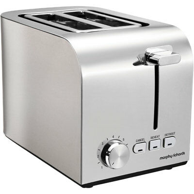 Morphy Richards 222055 Equip 2 Slice Toaster Brushed Stainless Steel