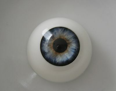 Reborn doll eyes 24mm Half Round  HEAVENLY BLUE