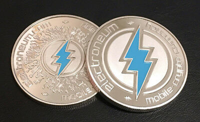 ELECTRONEUM Crypto Coin in Acrylic Case - FAST SHIPPING - Commemorative
