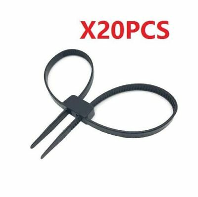 Heavy Duty Police Nylon Black Double Zip Ties Handcuffs Cable Ties UV X20PCs ♫