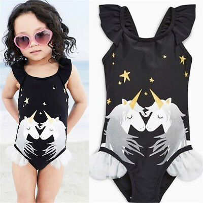 US Seller Kids Baby Girls Unicorn Bikini Swimwear Swimsuit Bathing Suit Beach ju