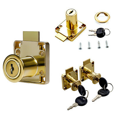 Zinc Alloy Computer Desk Cabinet Mailbox Drawer Cupboard Locker Cam Lock Keys