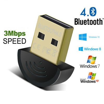 Mini USB 2.0 Bluetooth V4.0 Dongle Wireless Adapter For PC Laptop 3Mbps Speed CD