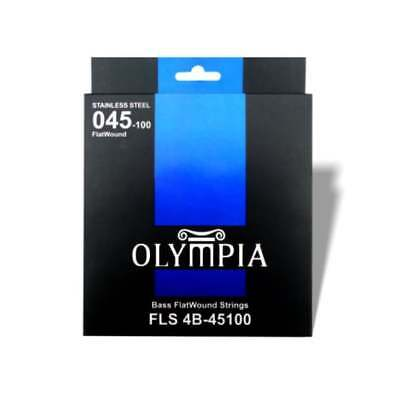 Olympia FLS 4B-45100 Flatwound Bass Guitar Strings Stainless Steel RRP £24.99