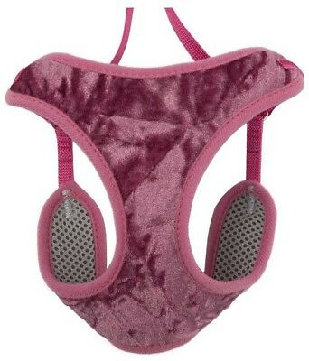 Ancol Velvet Vintage Pink Cat Harness and Lead - Small