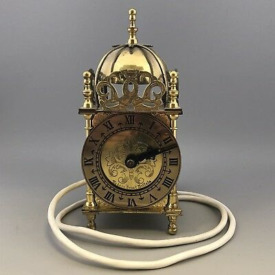 Vintage SMITHS Electric Ornate Brass Metal Dome Mantel Carriage Lantern Clock