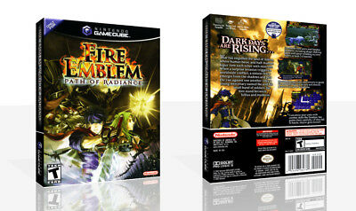Fire Emblem: Path of Radiance Game Cube Case + Box Art Work Cover No Game