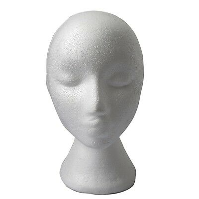 Foam Female Mannequins Head Stand Model Wig Hat Glasses Cap Model Shop M0