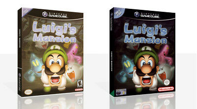 Luigi's Mansion Reproduction Game Cube Case + Box Art Work Cover No Game