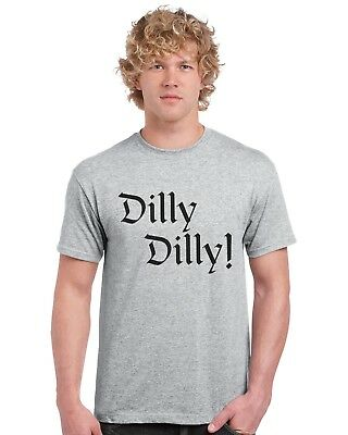 Dilly Dilly Bud Light T Shirt Tee Top True Friend Pit Of Misery (Black Text)