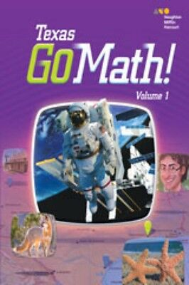 Go Math Texas Grade 3 Student Edition Set 3rd Volumes 1 & 2
