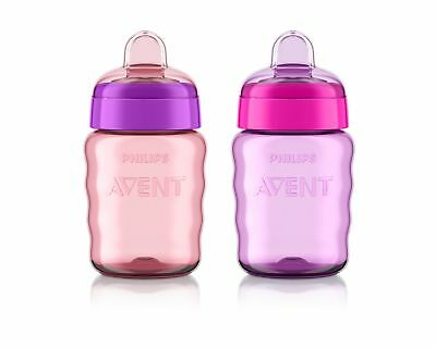 Philips Avent My Easy Sippy Cup, 9 Ounce, Pink/Purple, Stage 2 (colors may va...
