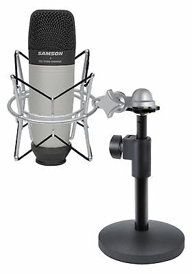 Samson C01 Studio Recording Podcast Microphone+Shock Mount+Weighted Mic Stand