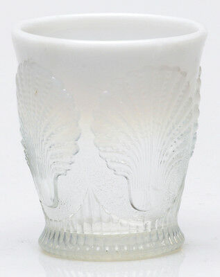 Tumbler - Beaded Shell - Crystal Opalescent Glass - Mosser USA