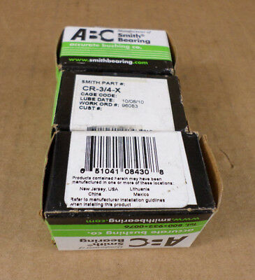 Lot of 3 ABC Smith Bearing CR-3/4-X Cam Followers