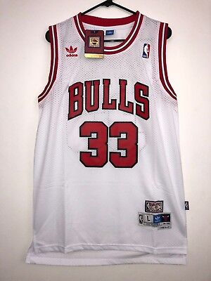 1f33020b93f Scottie Pippen  33 Chicago Bulls White Throwback Swingman Stitched Adidas  Red